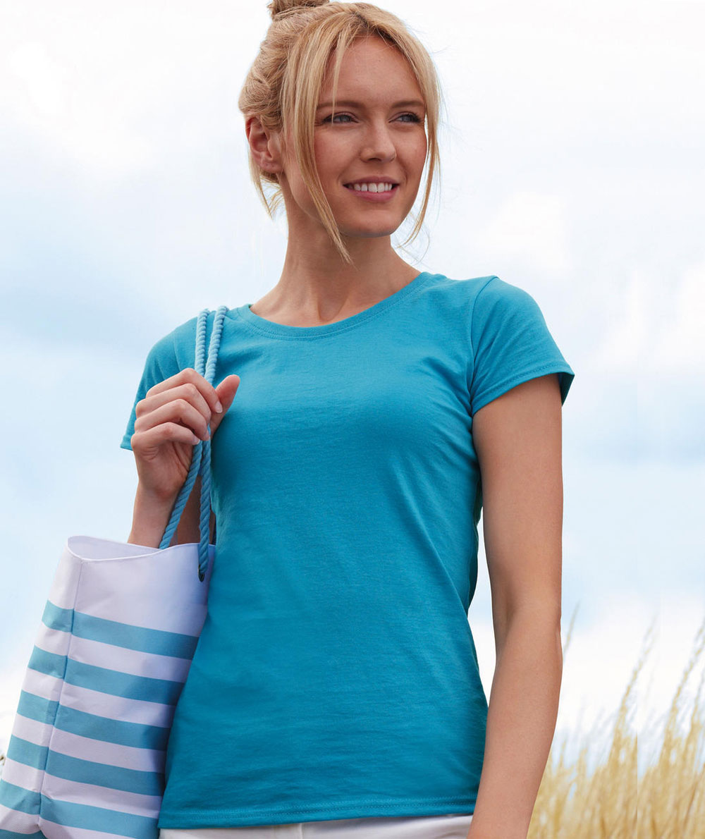 824b08633576 T-shirt Manica Corta Economica Donna Fruit Colorata